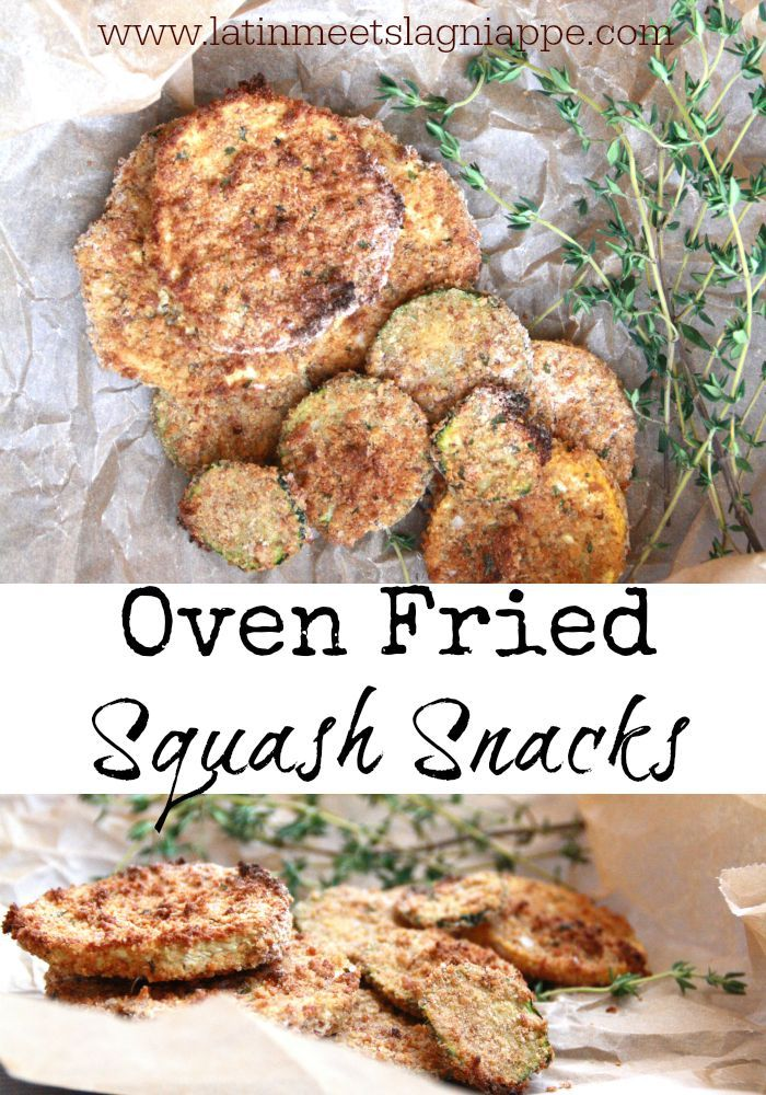Tasty, crispy Oven Fried Squash Snacks are the perfect afternoon treat or dinner side dish! Yum!