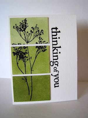 handmade card from I'm in Haven: Less is More 62 ...Three Shades of Green ... big sentiment perfect for this layout ...