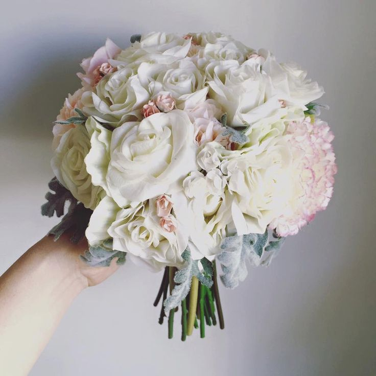A personal favourite from my Etsy shop https://www.etsy.com/au/listing/265917562/soft-rose-bouquet-in-white-and-soft