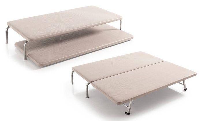 Groupon Goods Global GmbH: Juego de bases para cama tapizadas canguro