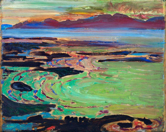 West Coast Sunset, Vancouver - Frederick Horsman Varley of the Group of Seven