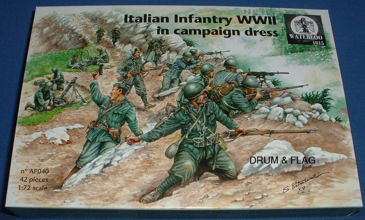 WATERLOO 1815 AP040 WW2 ITALIAN INFANTRY IN CAMPAIGN DRESS 1/72 SCALE – DRUMANDFLAG