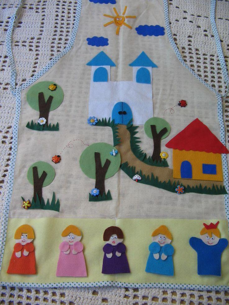Avental cinderela. Compre em nossa loja virtual www.silvana.elo7....   ou entre em contato pelo e-mail silvanarigamonte@yahoo.com.br