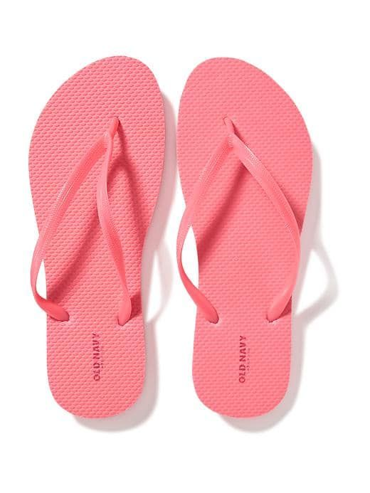 Old Navy - Classic Flip-Flops for Women in Hot Sizzle $2.50
