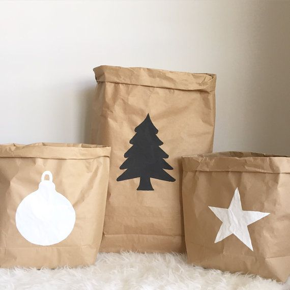 A Christmas Sack for your kids to reach into on Christmas morning!  + The sack is made from durable reinforced double walled kraft paper. +