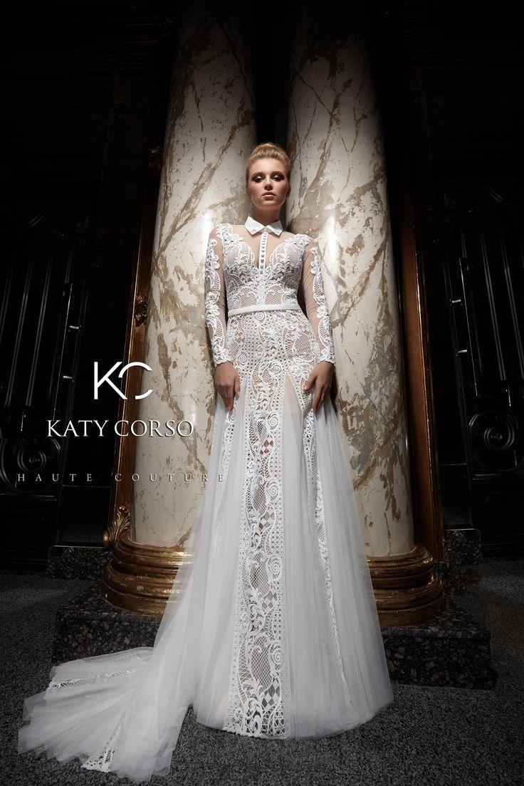 Stylish dresses for stylish brides! Haute Couture! #KatyCorso #weddingfashion #weddingdresses