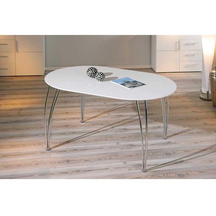 esstisch weiss zum ausziehen moderner esstisch mobel. Black Bedroom Furniture Sets. Home Design Ideas
