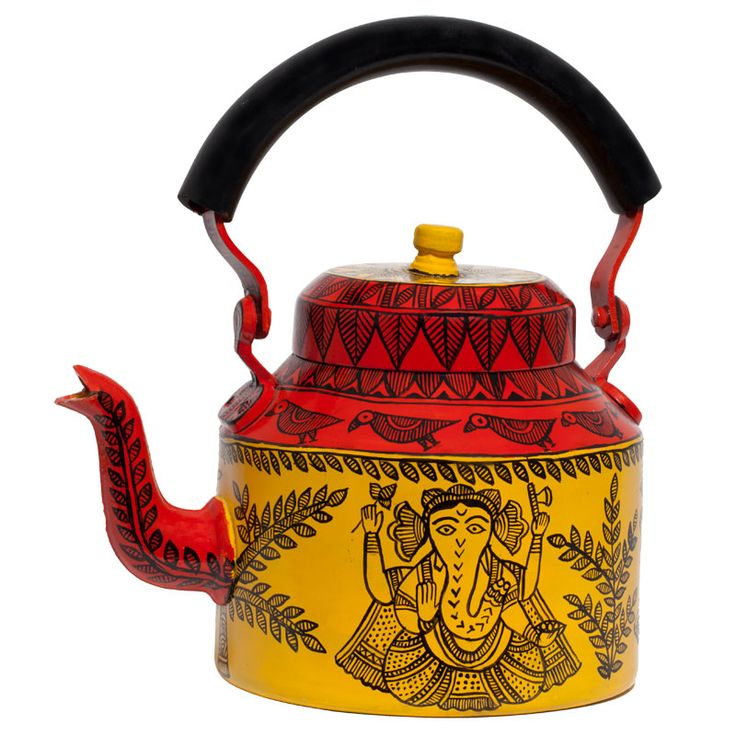 Ganesh Madhubani kettle Yellow