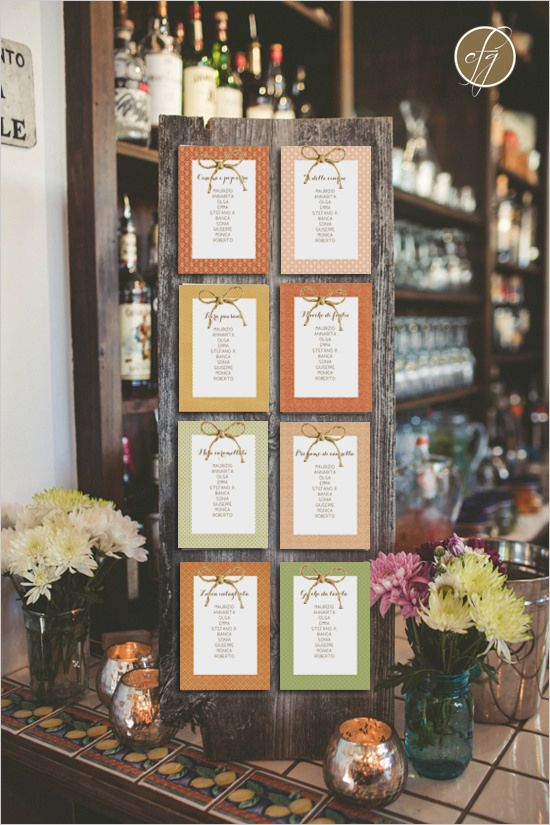 Tableau de mariage autunnale - Fall seating plan                              …