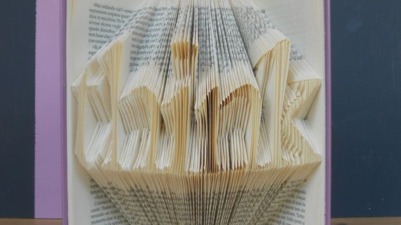 Folded Book Art - Think Decorative Arts Book Sculpture