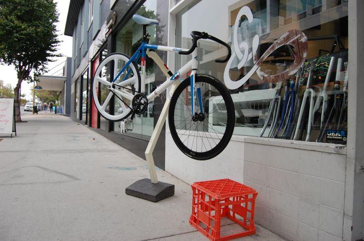Custom bike rack for Gear Shop Brisbane. By POPconcrete