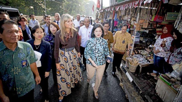 Koningin Máxima is de tweede dag van haar VN-bezoek aan Indonesië woensdag al vroeg begonnen.