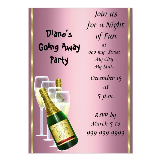 1260 best Farewell Party Invitations images on Pinterest - farewell card template