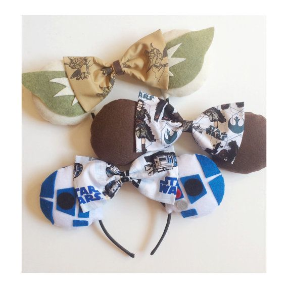 Star Wars themed minnie ears by ComicGeekOut on Etsy