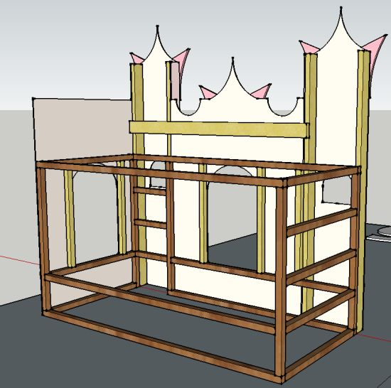 Castle bed made with Kura