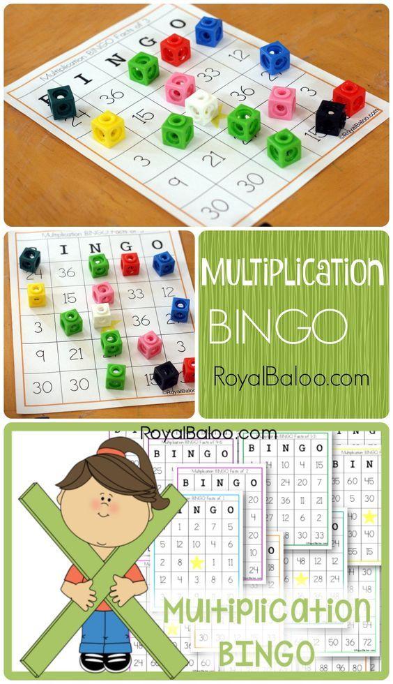 Multiplication BINGO Cards - Free! Practice multiplication facts 1 through 12