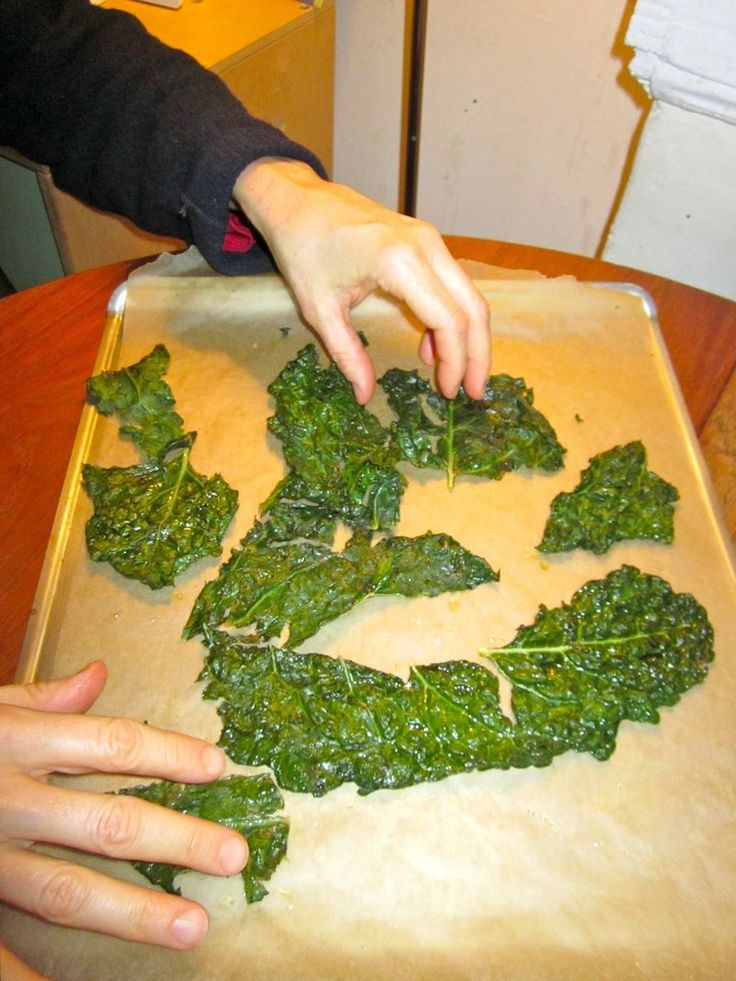 kale chips: These are my new favorite snack! I eat them all the time now!