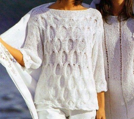 Lavori a maglia per creare un maglioncino a punto in rilievo