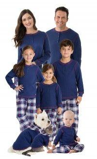 Snowfall Plaid Matching Family Pajamas