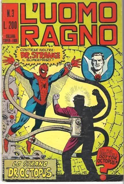 L'uomo ragno!! I mitici fumetti dell'editoriale Corno. 200 lire e tanto divertimento ....oggi è ben diverso il costo di un fumetto :-(