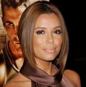 Warm medium brown hair color and amazing nude lips!  Love!  Shown: Eva Longoria