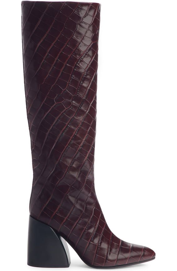 0b6214e4f61 Chloé Wave Croc Embossed Knee High Boot (Women) | Nordstrom | The ...