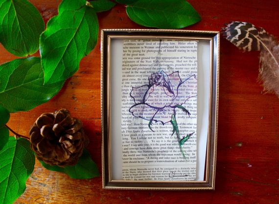 Rose Botanical handdrawn Pen and Ink originals by AnAwesomeLife