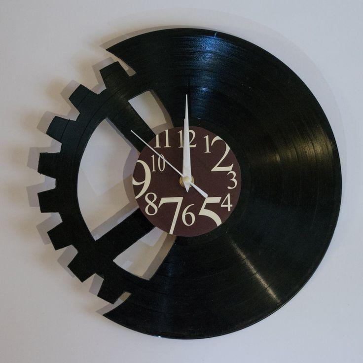 Mechanical Vinyl Wall Clock