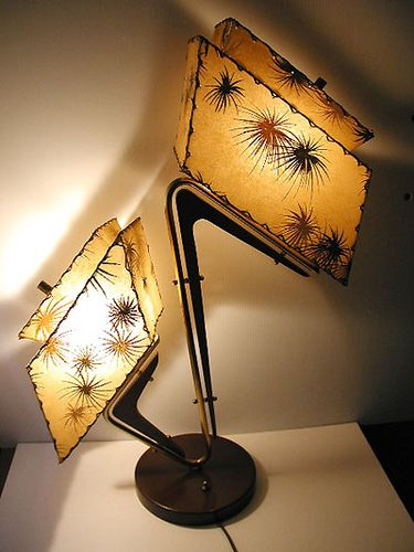 Majestic lamp with fireworks fiberglass shades