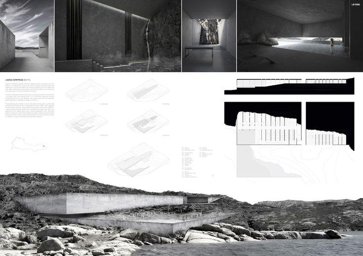 Concurso Internacional Site Lake Baths, Serra da Estrela, Portugal 1er Premio: Álvaro Olivares Peralta, Sevak Asatryan, Esther Sanchis Llopis, Eduardo Sancho Calzada (España)