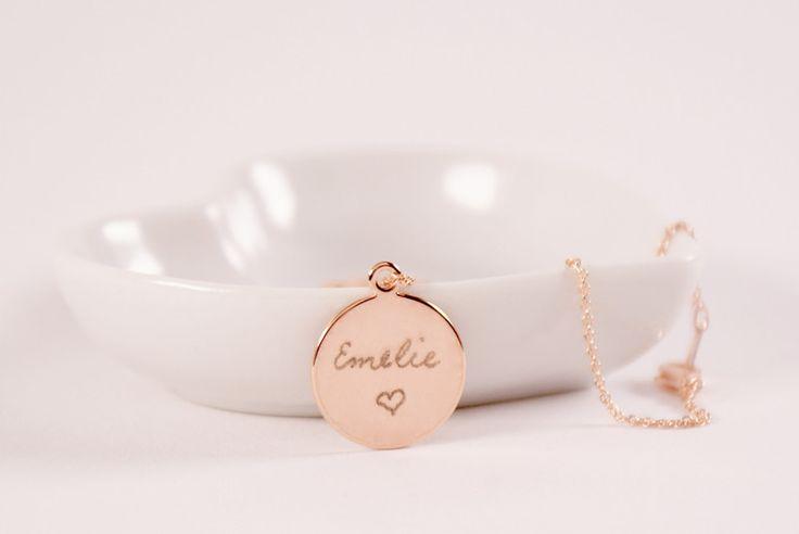 Namensketten - In my Heart..Kette mit Gravur Roségold Namenskette - ein Designerstück von TanjaBraun bei DaWanda