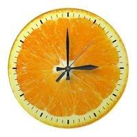 Orange Slice Delight Round Wall Clock from Zazzle.com