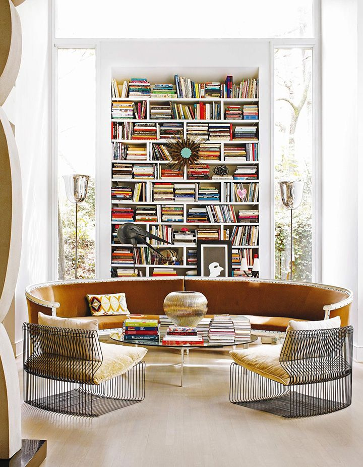 Sofá redondo Perfecto para biblioteca en casa