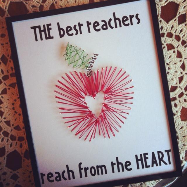 Apple string art - great for a teacher