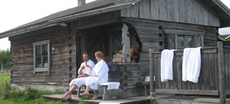 a Finnish traditional wooden Sauna