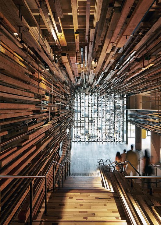 Winner: Hotel Hotel Lobby and Nishi Grand Stair Interior / March Studio. Image Courtesy of March Studio