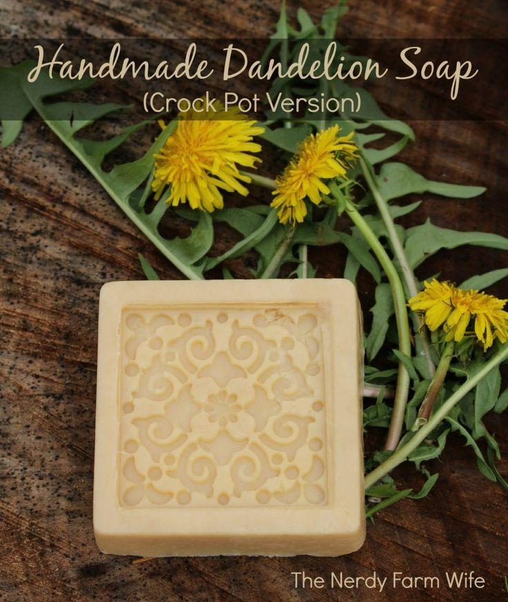 Handmade Dandelion Soap (Crock Pot Method)