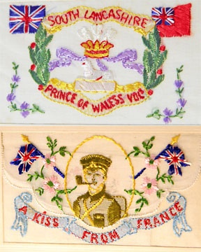 WW I embroidered postcards