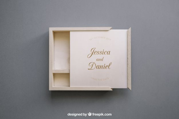 Download Download Open Wooden Box Mockup For Free Wooden Boxes Wooden Business Card Holder Wooden Business Card