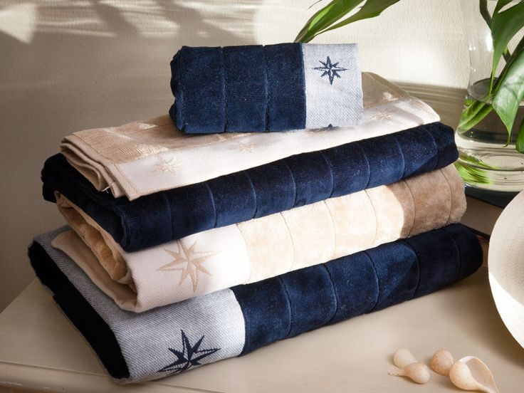 The FREE STYLE set of 3 towels is made of top quality 550g terry towelling.  With their velvety touch, the bath, shower and bidet towels in the FREE STYLE collection, embroidered with a nautical design of an anchor, will give your boat a touch of sophistication and excellent taste.  Purchase online: http://ultralifestyle.com.au/product-category/bathroom-beach/bath-towels/