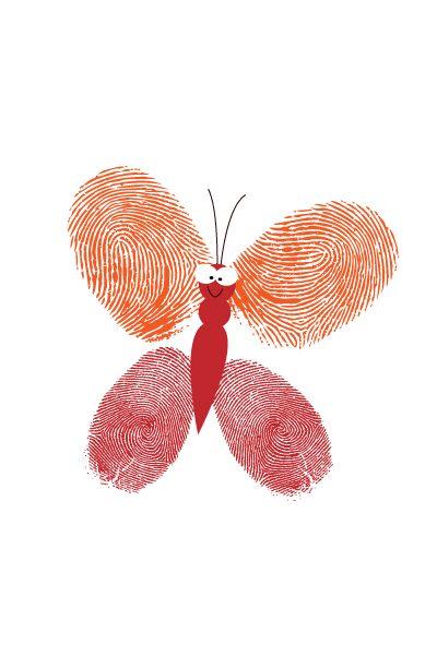 inspiratie vinger/ hand - afdrukken