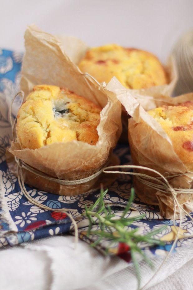 Muffins gorgonzola miel et romarin