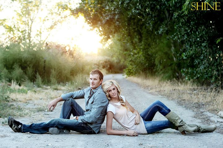 super cute senior photo. I wouldn't do this for a regular couple photo. it would definitely be a cute senior picture though!