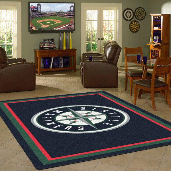 Seattle Mariners MLB Team Logo Spirit Rug