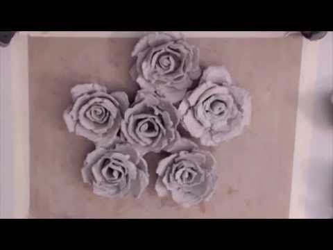 Paper Egg Carton Flowers - YouTube