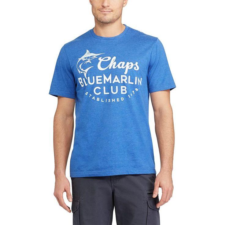 Men's Chaps Nautical Tee, Size: XL, Blue