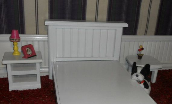 American Girl Doll Hand made wooden Bed for by WOODNTHINGSBYFRANK, $45.00