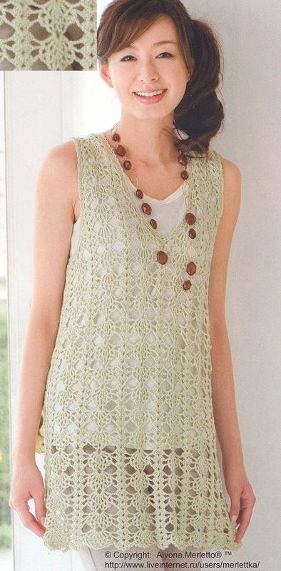 276 best Tejido crochet images on Pinterest | Crochet dresses ...