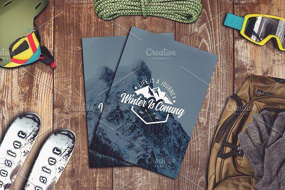 Download Winter Sport Mock Up 1 Photoshop Logo Mockup Design Alphabet Illustration