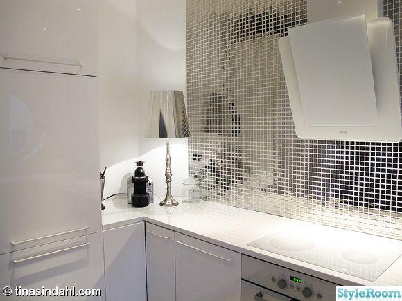 Bildresultat för vitt glasmosaik i kök